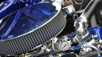 Muscle Car Engine and Air Filter