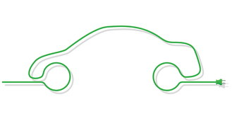 outline of a green car