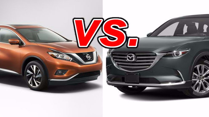 nissan murano vs mazda cx 9 carsdirect. Black Bedroom Furniture Sets. Home Design Ideas