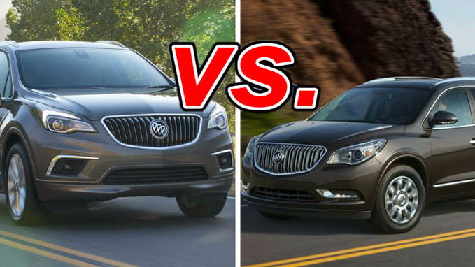 Tucson Used Cars >> Buick Envision vs. Buick Enclave - CarsDirect