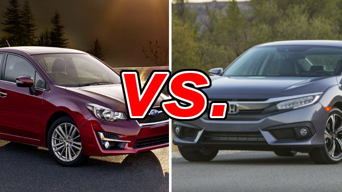 Subaru Impreza vs Honda Civic - CarsDirect