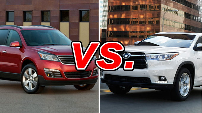 chevrolet traverse vs toyota highlander carsdirect. Black Bedroom Furniture Sets. Home Design Ideas
