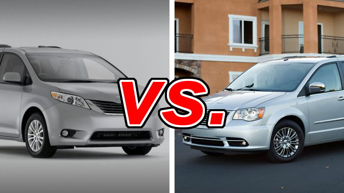 Toyota Sienna Vs Chrysler Town Amp Country Carsdirect