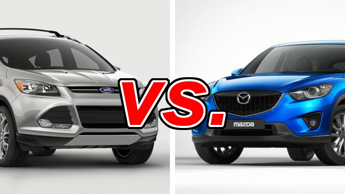 ford escape vs mazda cx 5 carsdirect. Black Bedroom Furniture Sets. Home Design Ideas