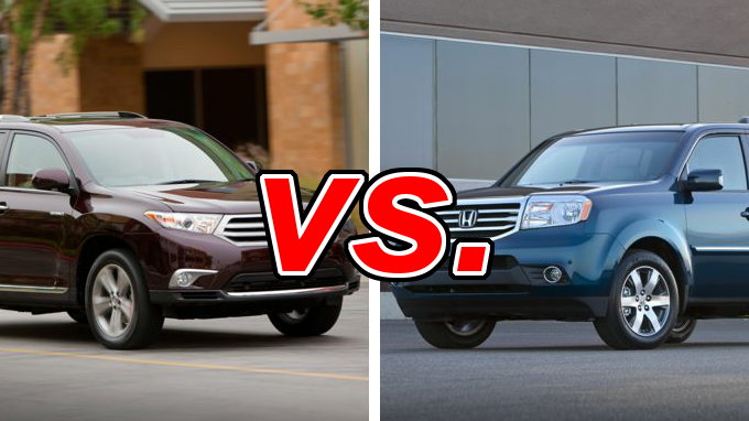 compare honda pilot vs toyota highlander official autos weblog. Black Bedroom Furniture Sets. Home Design Ideas