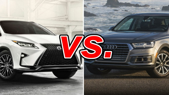 lexus rx 350 vs audi q7 carsdirect. Black Bedroom Furniture Sets. Home Design Ideas