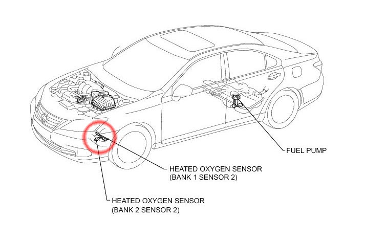 lexus es how to replace oxygen sensor
