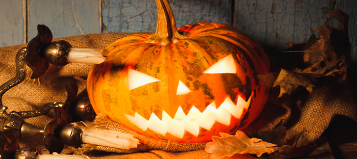jack o lantern pumpkin at halloween