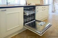 open built-in dishwasher