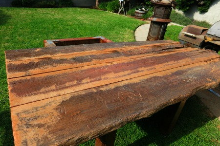 Reclaimed Wood, A Redwood Corral Becomes A Table