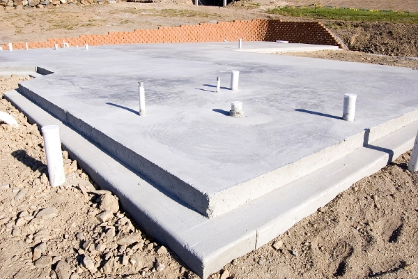 How to build a slab foundation for Building a house on a slab