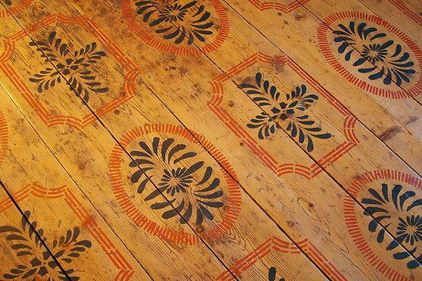 Stencil on a wood floor