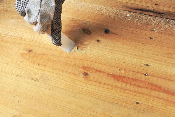 Refresh your hardwood floors for Wood floor hole filler