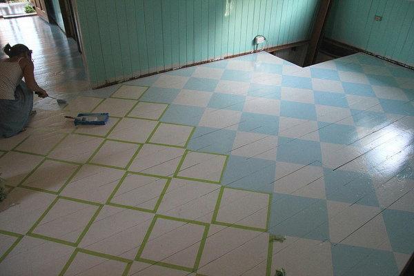 step 3 prepare the floor for paint. Black Bedroom Furniture Sets. Home Design Ideas