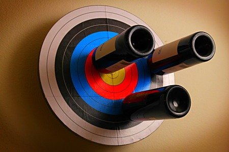 Wine Rack Archery Target Doityourself Com