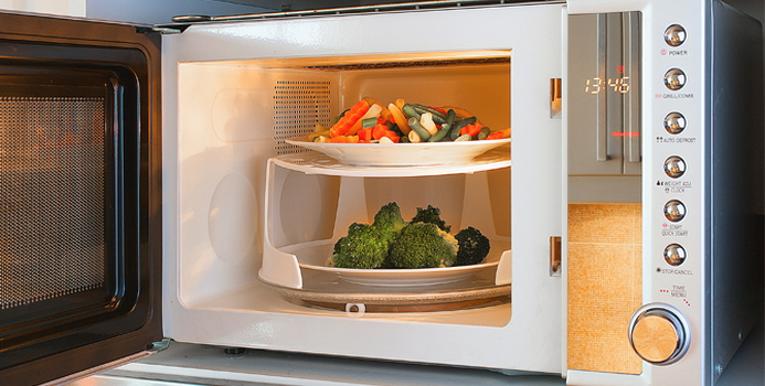 how to cook veggies in microwave and then oven