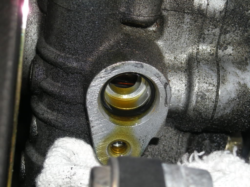 Leaking Power Steering Hose Replace O Ring Toyota Sienna