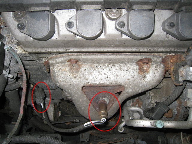 honda oxygen sensor location honda oil sensor location