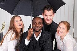 People Under an Umbrella