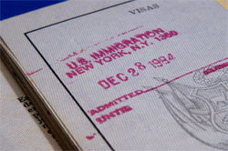 Old US Visa stamp