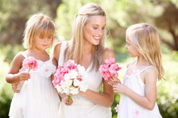 Bride with Two Small Girls