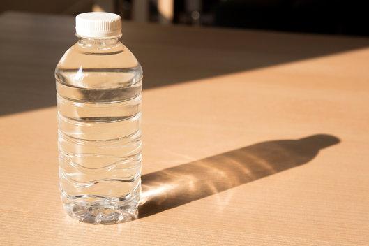 water bottle in the sun