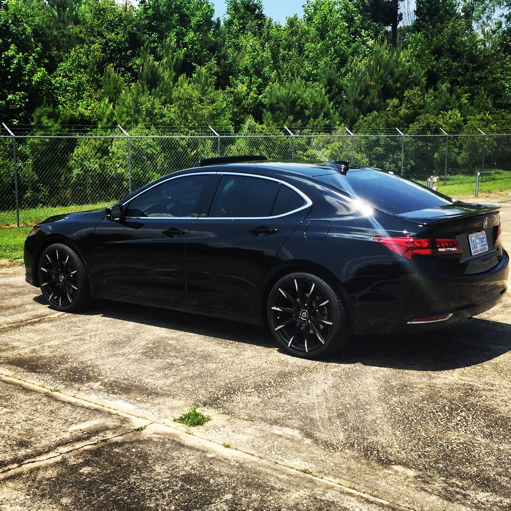 Black TLX With Lexani Wheels