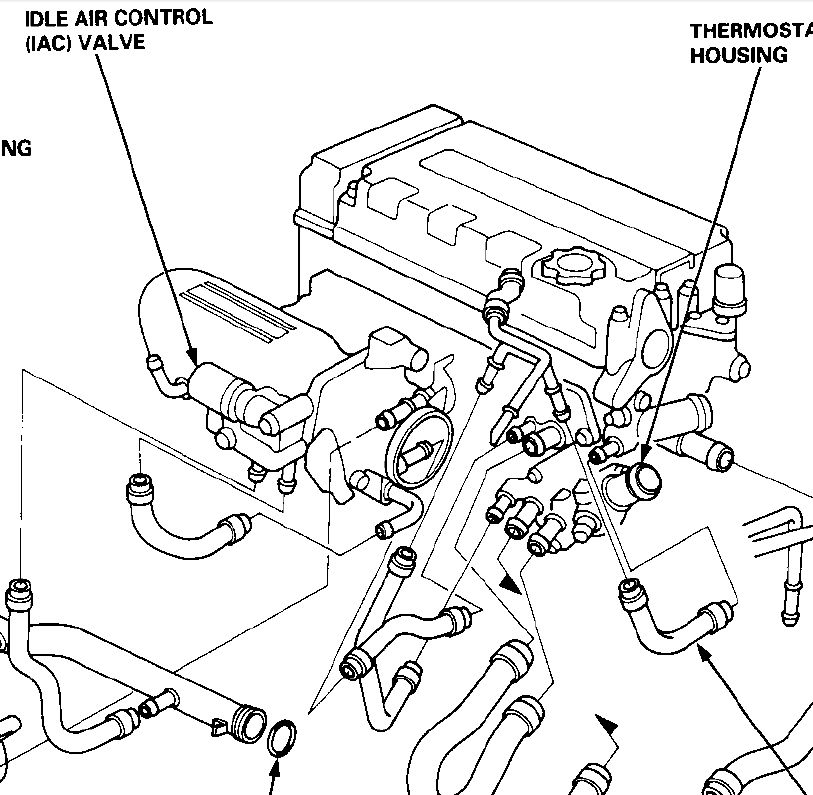 1992 Honda Civic Engine Coolant Diagram Com