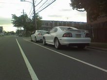 Me and my buddy in his cobalt ss turbo
