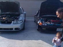 Next to Mini me, which is our friends supercharged civic