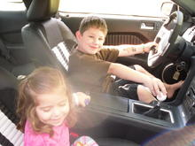 the kids driving!