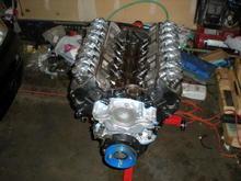 New engine sans wanter pump and intake manifold
