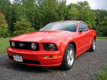 2008 Torch Red Mustang GT