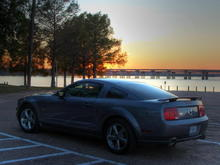 Mustang GT Lake Sunset