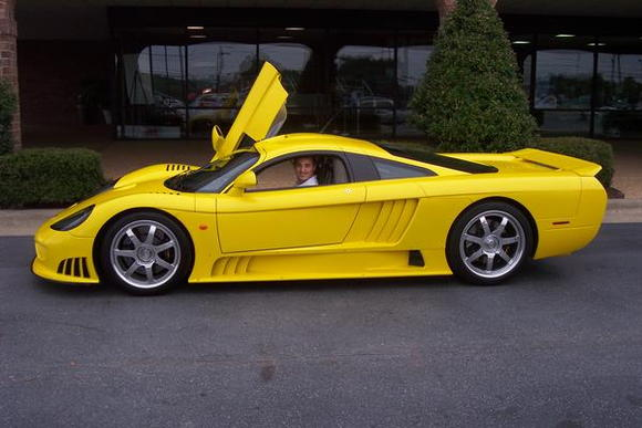 Me in the Screaming Yellow Saleen S7 last year before Ciener-Woods Ford went out of business.