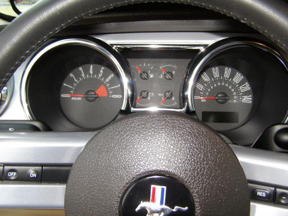 Bought her used, but with only 16,002 miles on her.  With some future modifications, this speedometer will be obsolete.