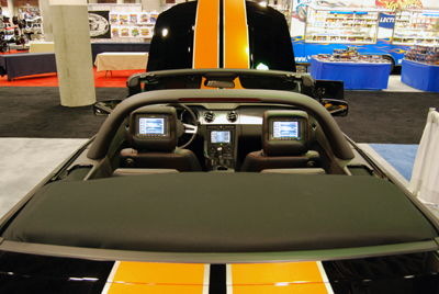 stripes and headrests.  The M.1b Performance Computer was displayed on the headrests as well as the screen in the dash.