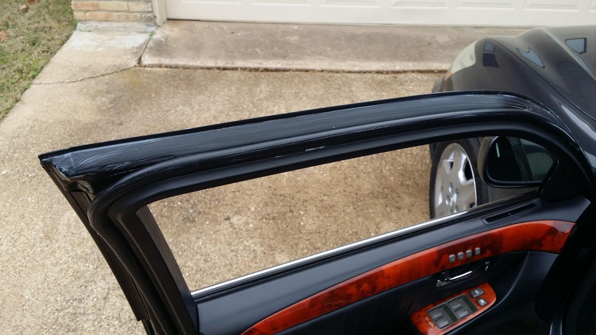 how to fix split rubber car door seals