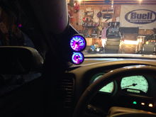 New gauges and pod pillar these are glowshift 7 color options.