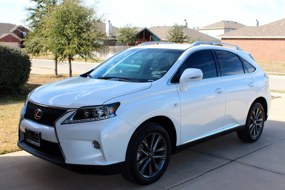 My RX 350 F-Sport during the 1st day in my driveway and that was jan. 2013.