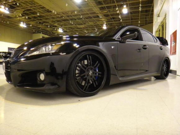 2011 Lexus ISF ISS Forged Exhaust Figs Control arms, Pirelli Tires, KW V3 Coilovers, AZA Forged 3 Piece 20's, 100 Shot NOS, Takeda Intake, Rockford Fosgate System by SMD - XS Power D2400 and XS Power 1/0 Wiring