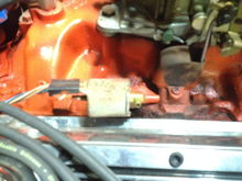 Passenger side of manifold