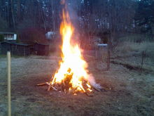 fire in the backyard