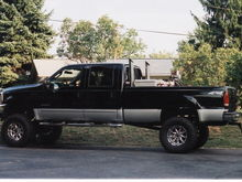 "Uncles 03 F-350 with Stacks and a 10"" super lift with Mickey Thompson 37/13.5R20's"