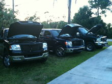 My F150 my buddys 09 F150 5.4L and my other buddys 01 F350 7.3L