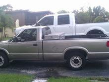 My loaner truck lol. my grandpa's 01 chebby S10..