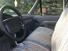 Saddle blanket, but still a good seat underneath. Good dash too