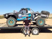 PM Truck Wheels/Kibbetech Racing #1466 Ford Ranger Sitting On Race Forge Gold Beadlock Wheels