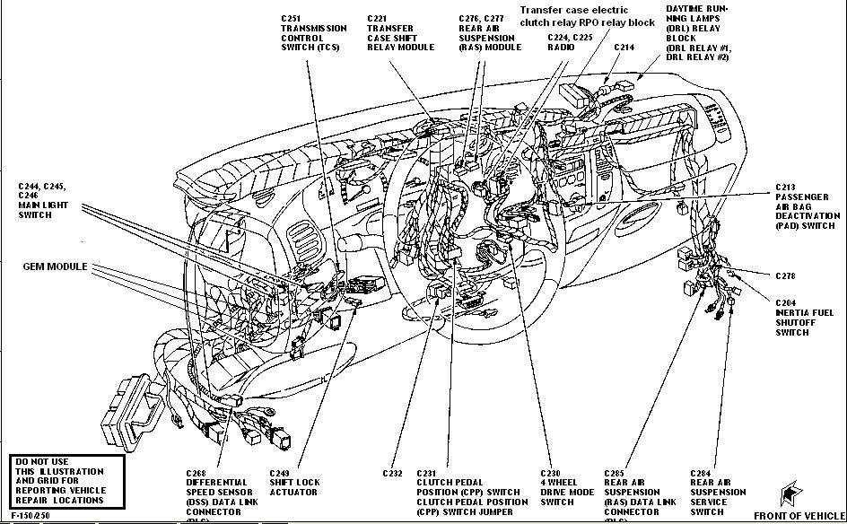 97 f150 under dash wiring diagram