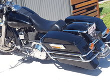 Electra glide 1997 magnetti morelli black bagger evo lowered 2 inches